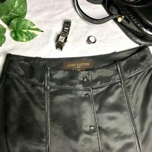 LOUIS VUITTON Silk Skirt ERU 36